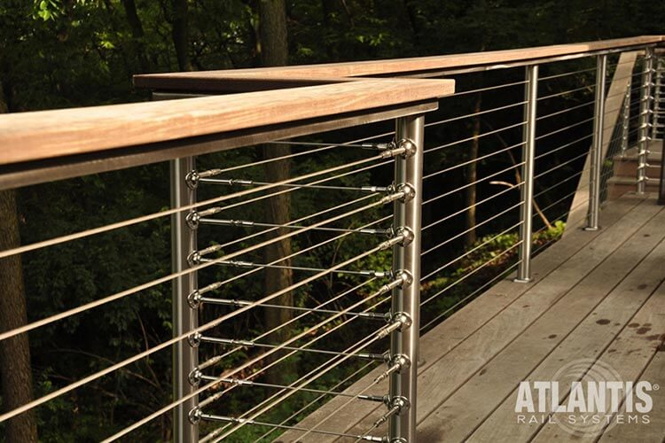 Cable Railing Cable : Atlantis cable railing stainless styeel rail system