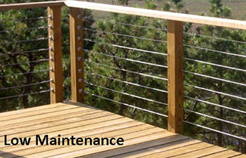 Wood deck handrail designs front porch railings options for Redwood vs composite decking