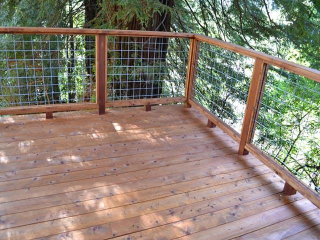 Wood deck railing railings outdoor