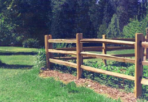 Post And Rail Fencing Cedar Split Rail Fence Rustic