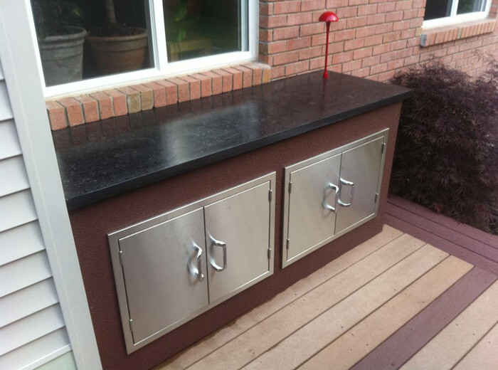 Concrete countertop backyard patio concrete kitchen counter Outdoor kitchen cost estimator
