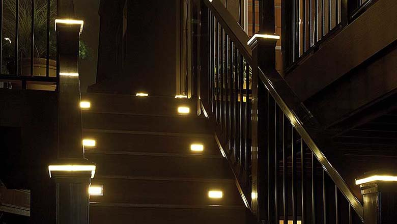 String Lights On Deck Railing : Deck Lighting Outdoor Deck Lighting Products Low voltage LED deck lighting