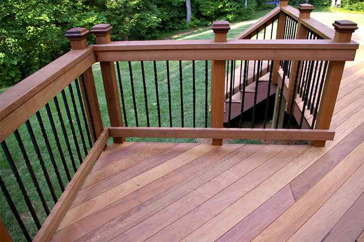 Hardwood decking lumber for deck dock projects