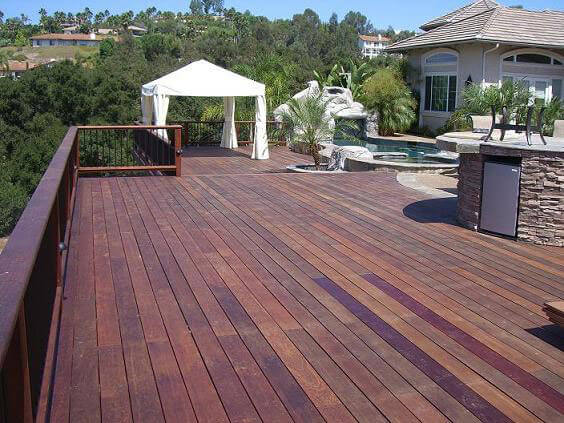 Hardwood decking hardwood lumber for deck dock projects for Hardwood decking supply