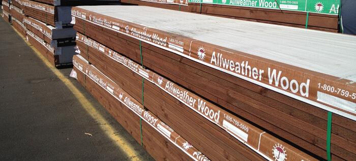 Pressurized wood