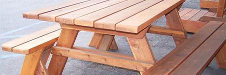 Merveilleux Redwood Picnic Tables