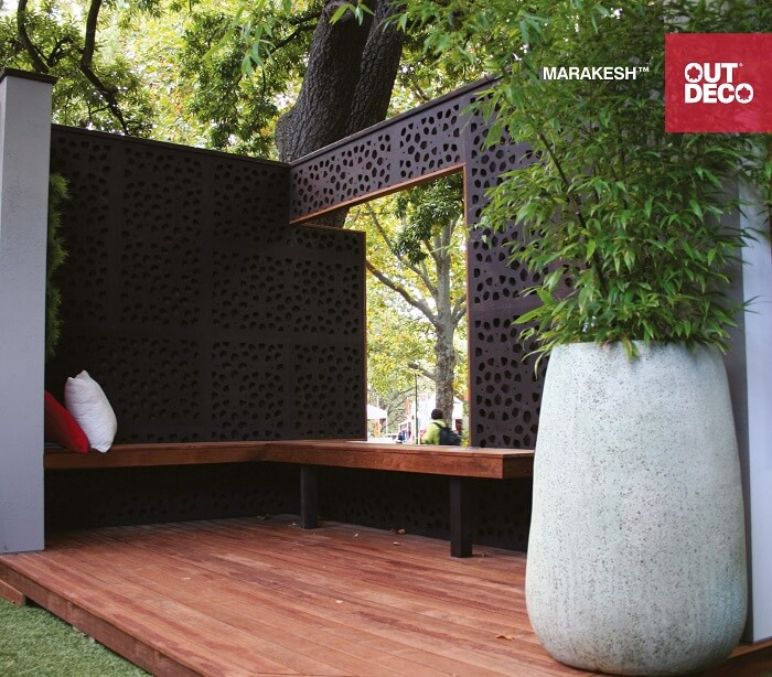 Easy Pool Deck W Privacy Screen: Decorative Outdoor Privacy Screens