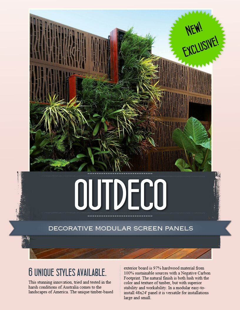 NEW! Outdeco Screen Panels