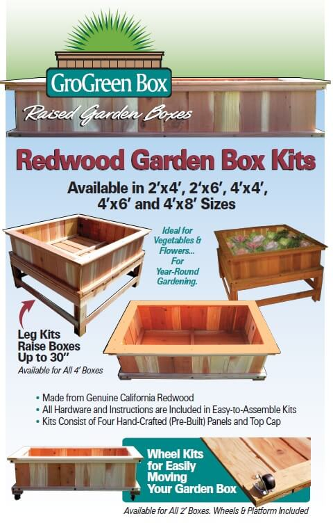 Redwood Garden Boxes