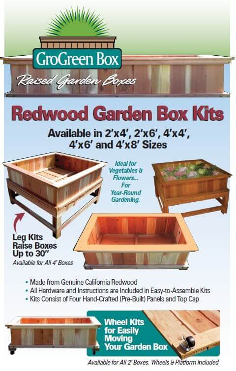 Redwood Garden Boxes