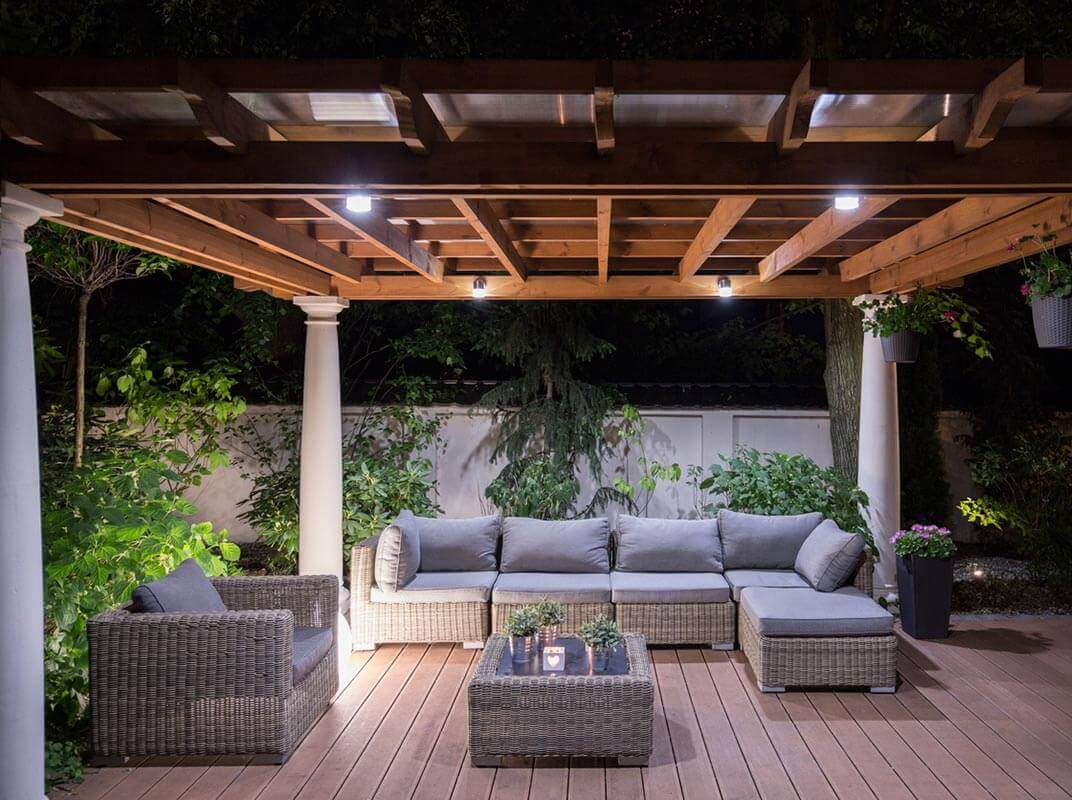 Lighting solutions for decks and patios jw lumber fall and winter in southern california mean gorgeous days brisk nights and the sun going down in the middle of the afternoon workwithnaturefo