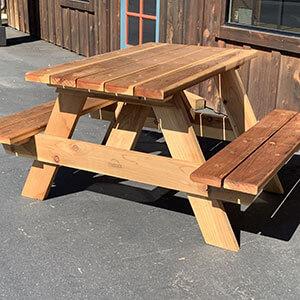 Redwood Picnic Tables